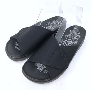 Allegro Airie Air-295 Black Slide Sandals Size 41